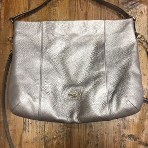 Coach Isabelle EW Pebble Leather Crossbody- $100